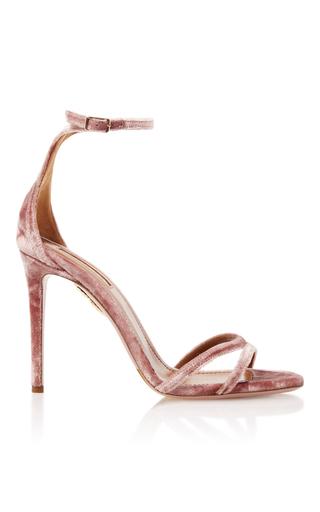 Medium aquazzura pink purist velvet sandals