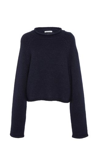 Medium protagonist navy cropped rollneck sweater
