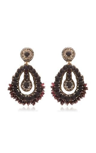 Medium ranjana khan black black drop earrings