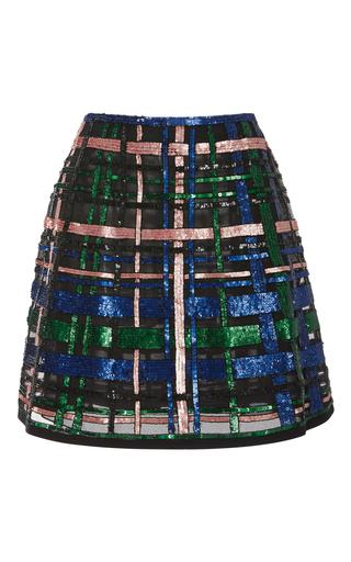 Medium elie saab black beaded a line mini skirt