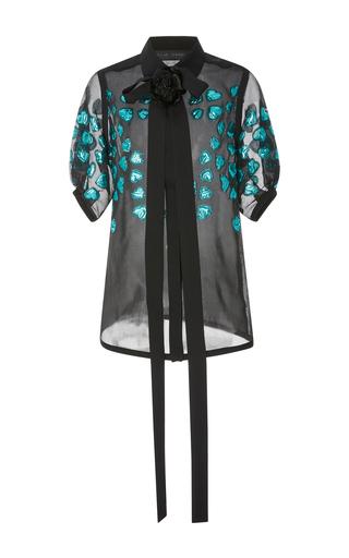 Medium elie saab black short sleeve fil coupe blouse