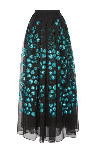 Medium elie saab black fil coupe skirt