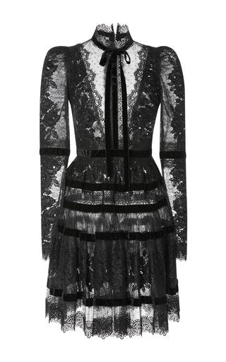 Medium elie saab black velvet long sleeve dress