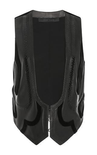 Medium elie saab black leather vest