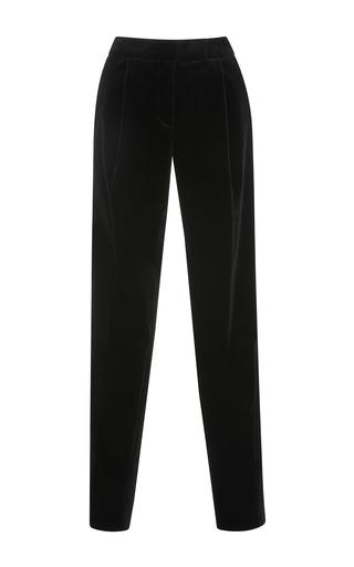 Medium elie saab black pleat front trousers