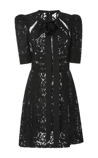 Medium elie saab black lace mini dress