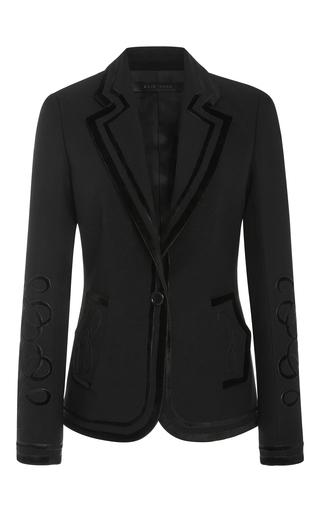 Medium elie saab black fitted jacket with velvet motifs