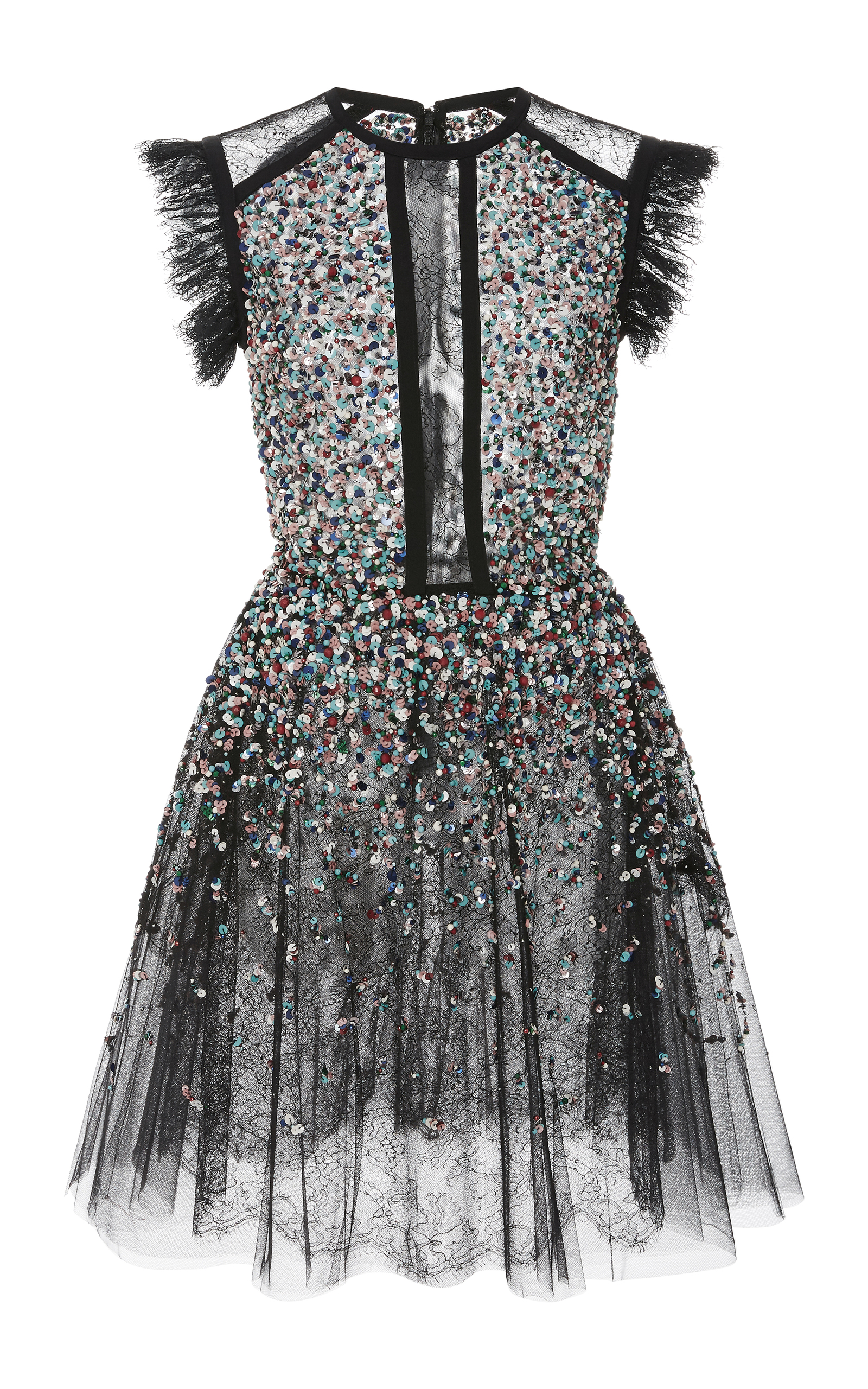 05b8d7e0 Beaded Embroidered Tulle Dress by Elie Saab | Moda Operandi