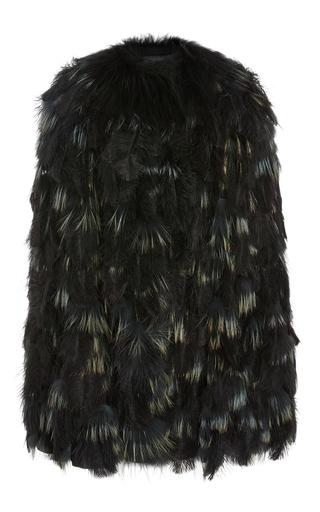 Medium elie saab multi ostrich feather jacket