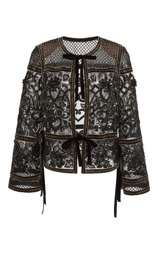 Medium elie saab black embroidered velvet jacket
