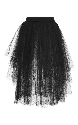 Medium elie saab black gathered mini skirt