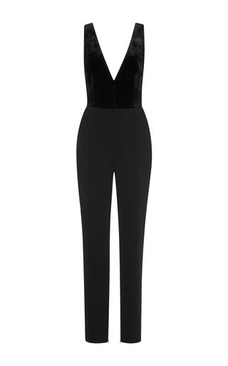 Medium elie saab black sleeveless deep v neck jumpsuit