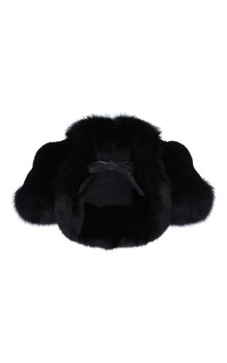 Medium elie saab black mink and fox fur bolero