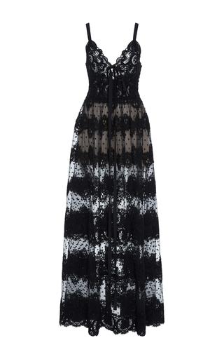 Medium elie saab black tulle sleeveless maxi dress