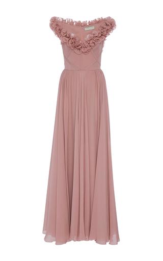 Medium elie saab pink sleeveless ruffled gown 2