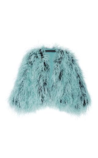 Medium elie saab blue feather jacket