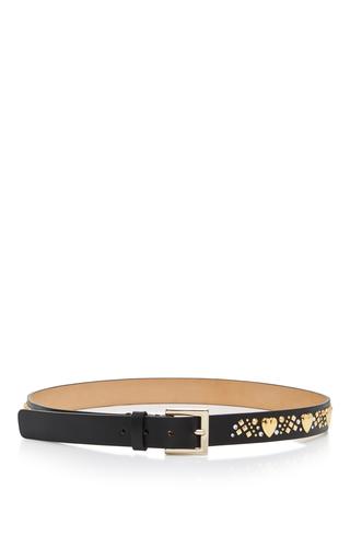 Medium elie saab black high waist belt with studs
