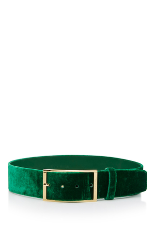 Medium elie saab green high waist velvet belt