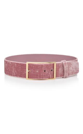 Medium elie saab pink high waist velvet belt