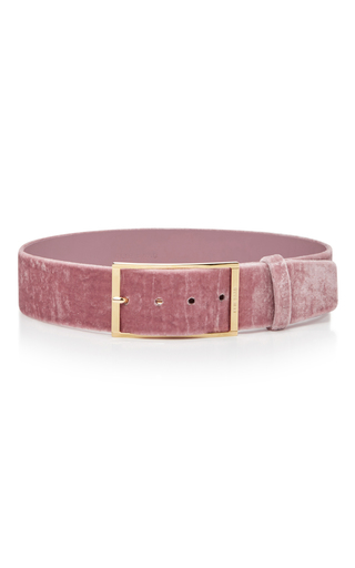 Medium elie saab pink high waist velvet belt