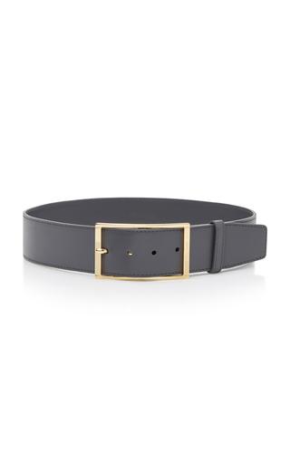 Medium elie saab grey high waist leather belt
