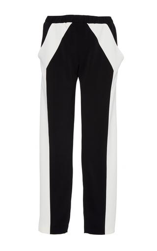 Medium sally lapointe black white stretch crepe track pant