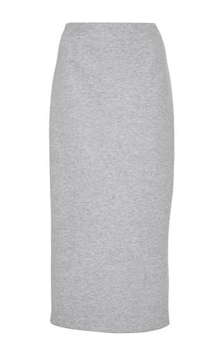 Medium sally lapointe grey thin cashmere wool sweatshirt pencil skirt