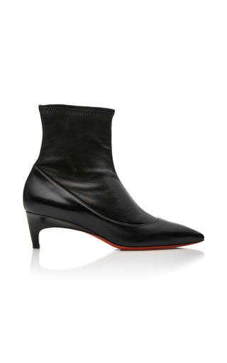 Medium santoni black stretch suede ankle boots