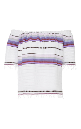Medium lemlem stripe adia striped cotton blend gauze top