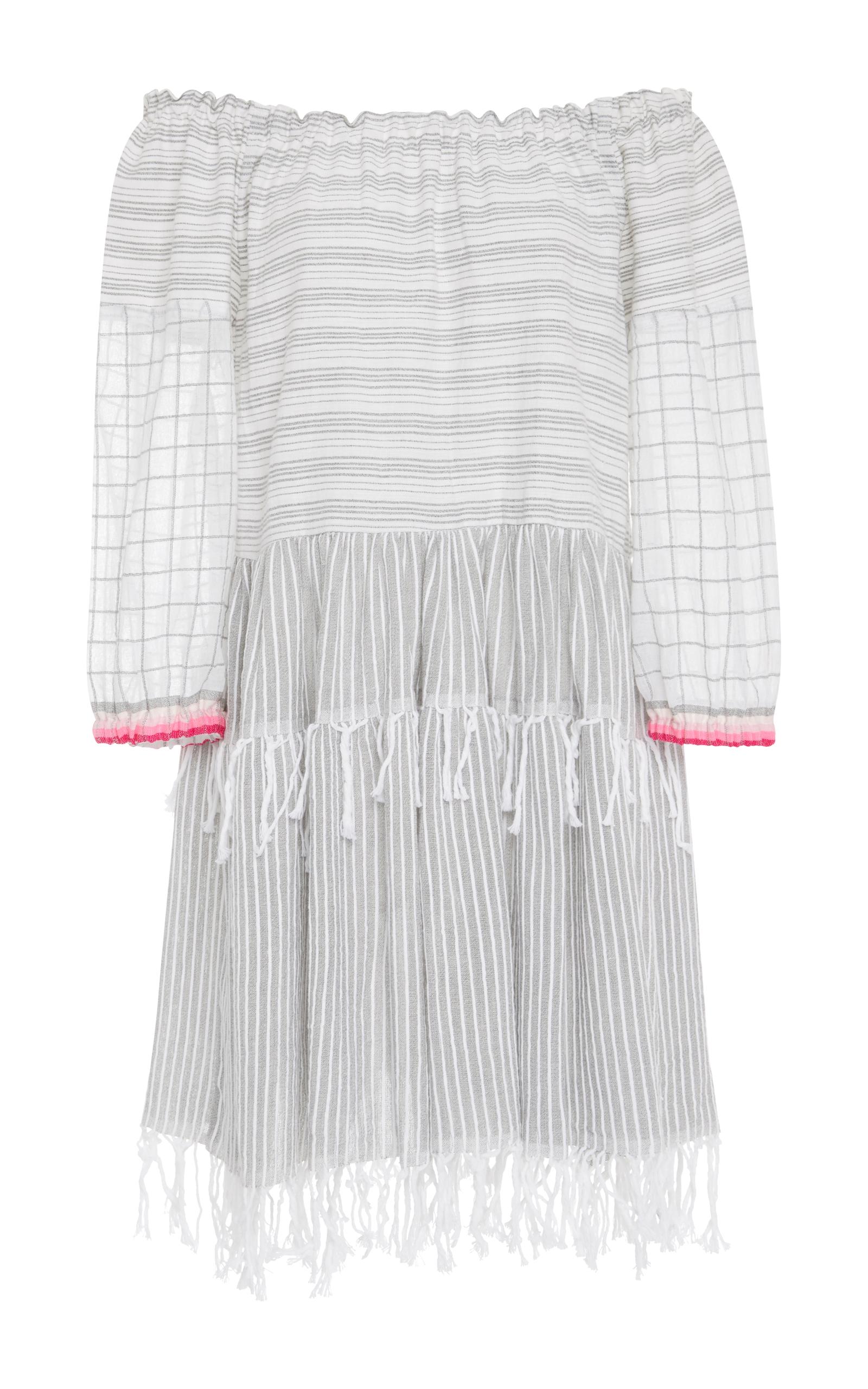 Blend Cotton Anan By Operandi Dress Gauze Off Lemlem Shoulder The Moda qtq6xwIR4
