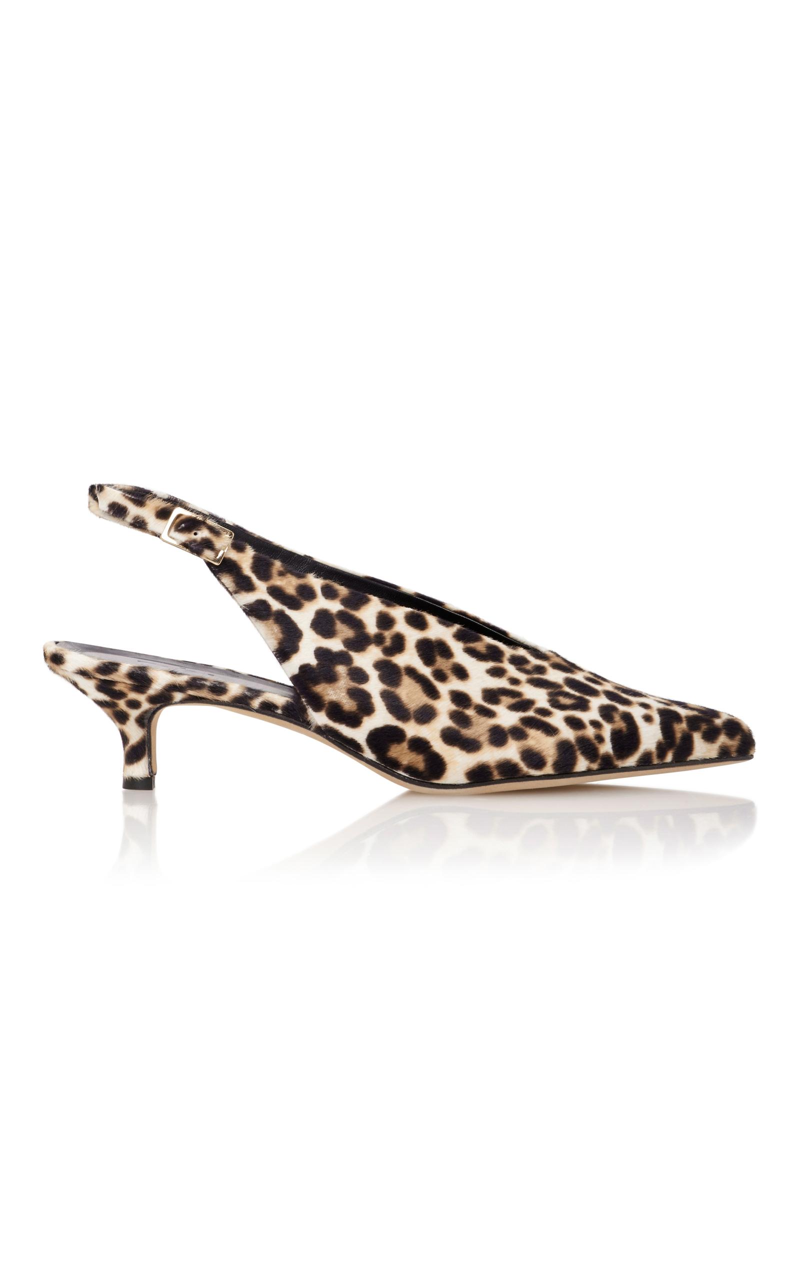 08a469323bc Lia Leopard-Print Calf Hair Slingback Pumps by Tibi