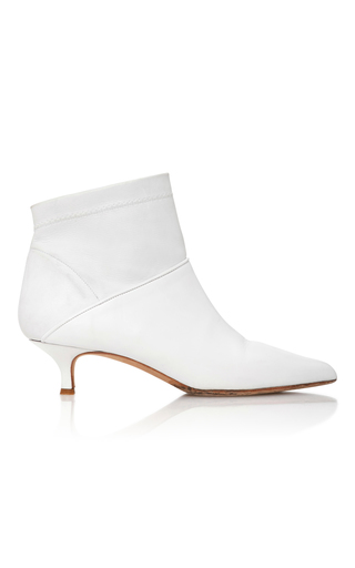 Medium tibi white jean leather ankle boots