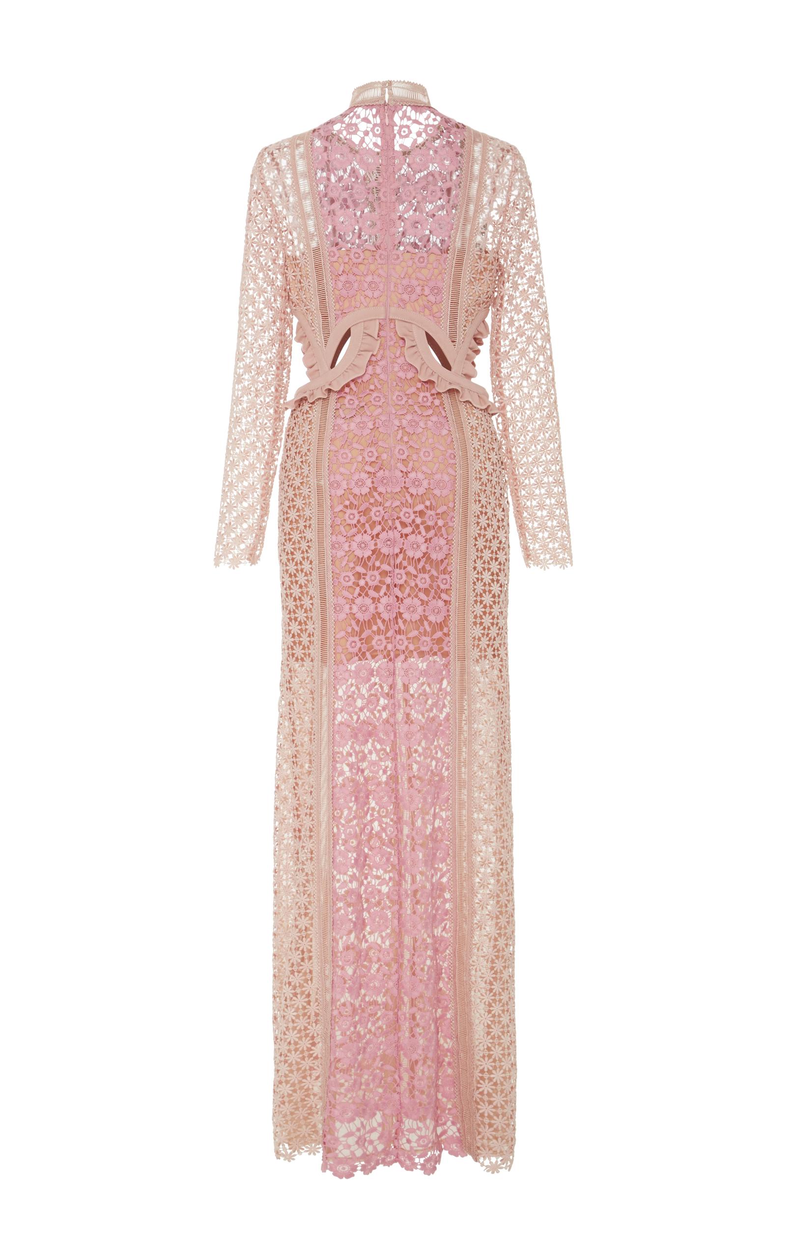 2c2abc6da6c7 Self PortraitPayne Ruffle-Trimmed Lace Maxi Dress. CLOSE. Loading. Loading