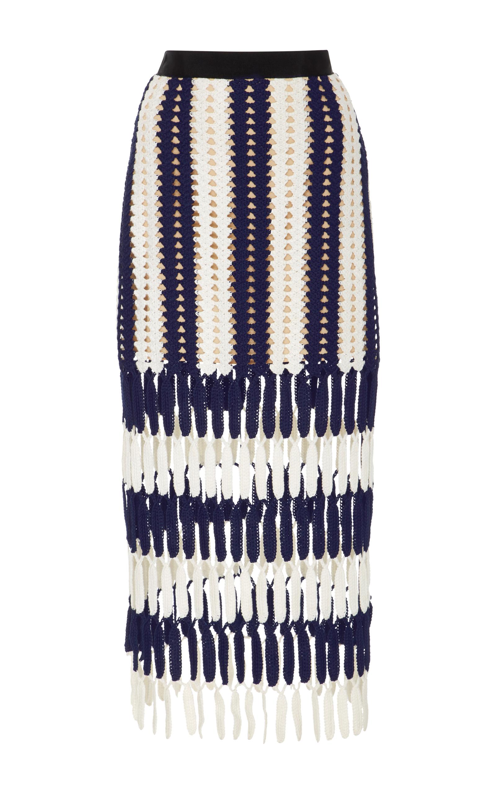 8ca687c6f High-Rise Crochet-Knit Skirt by Self Portrait | Moda Operandi