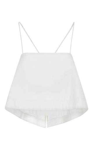 Medium a l c white easton cropped cotton blend top