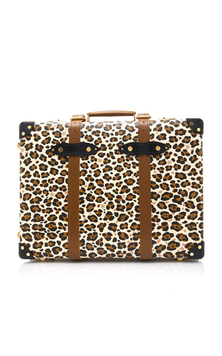 Medium charlotte olympia print leopard print leather trolley case