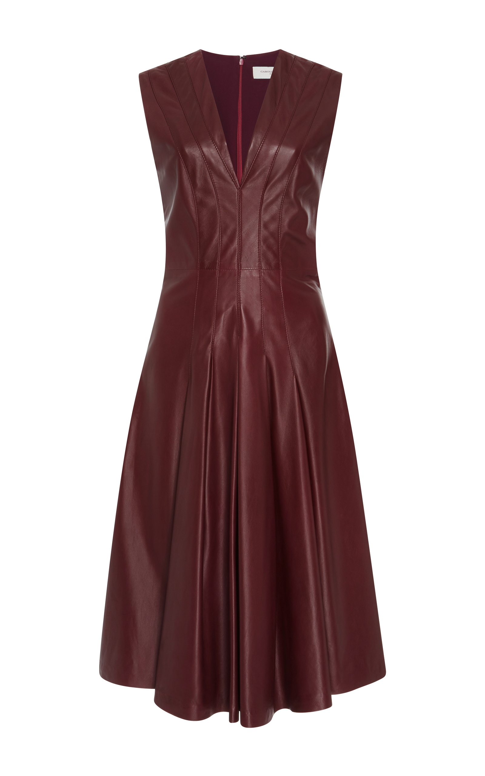 A Line Leather Dress