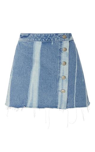 Medium 3x1 blue higher ground denim mini skirt