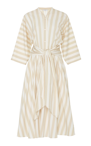Medium tome stripe striped cotton dress
