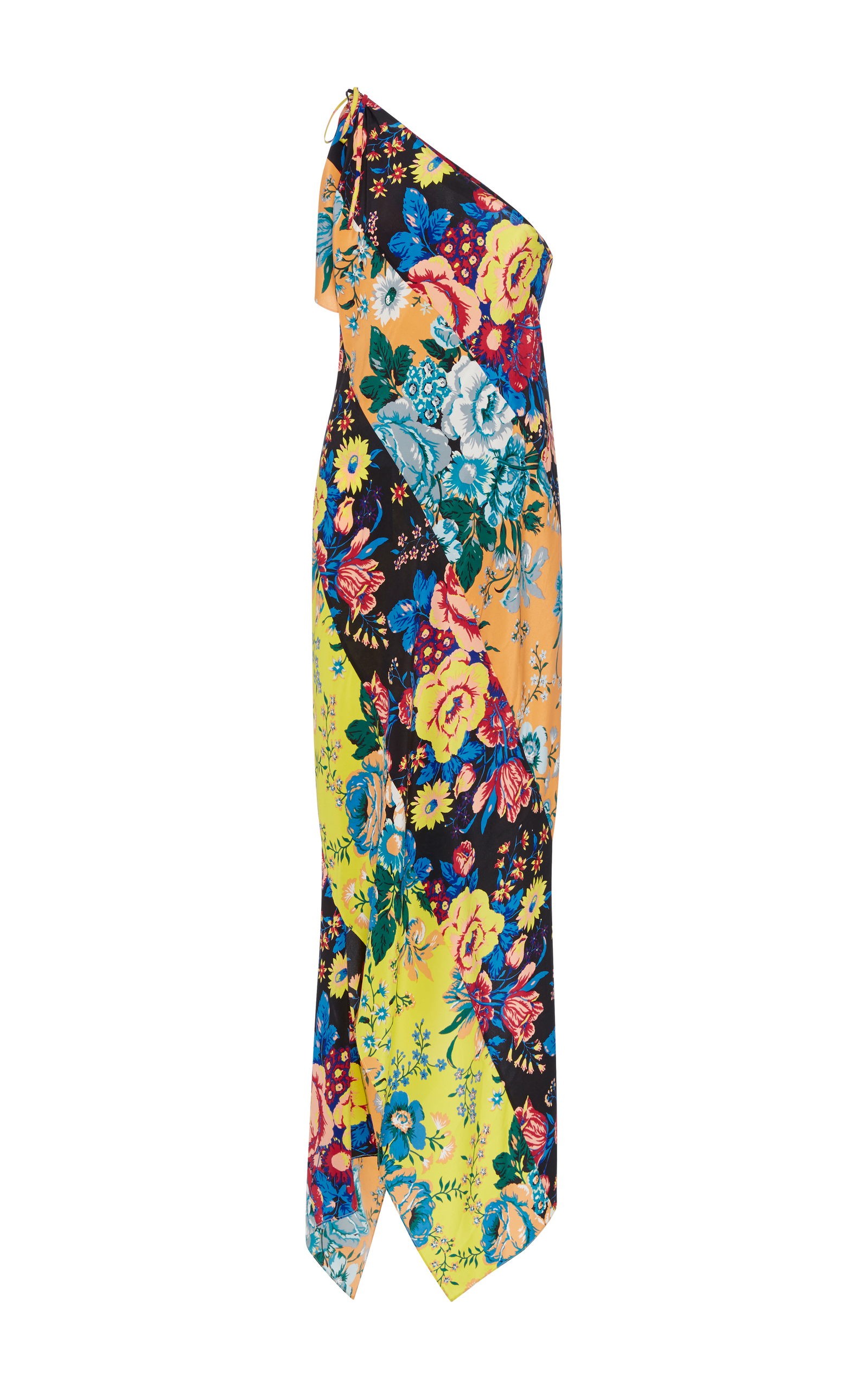 769854a0031 Diane von FurstenbergOne Shoulder Asymmetric Hem Dress. CLOSE. Loading