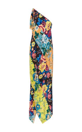 Medium diane von furstenberg floral one shoulder asymmetric hem dress