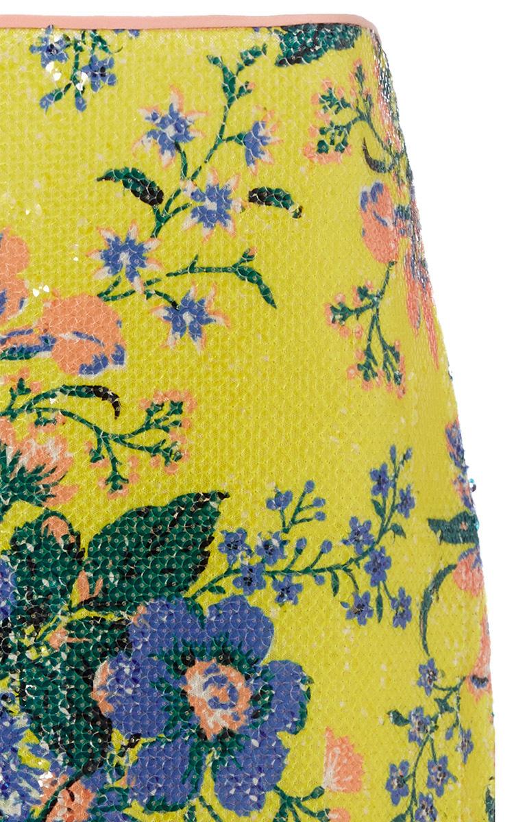0b40e09b42a Diane von FurstenbergFloral-Print Sequin Pencil Skirt. CLOSE. Loading.  Loading. Loading