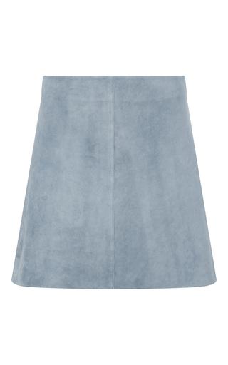 Medium diane von furstenberg blue jenny suede mini skirt