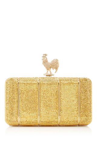 Medium judith leiber gold rooster ridged clutch