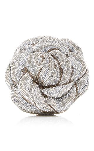 Medium judith leiber silver new rose clutch