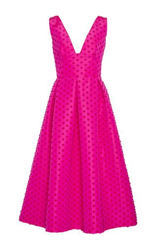 Medium lela rose pink v neck full skirt dress