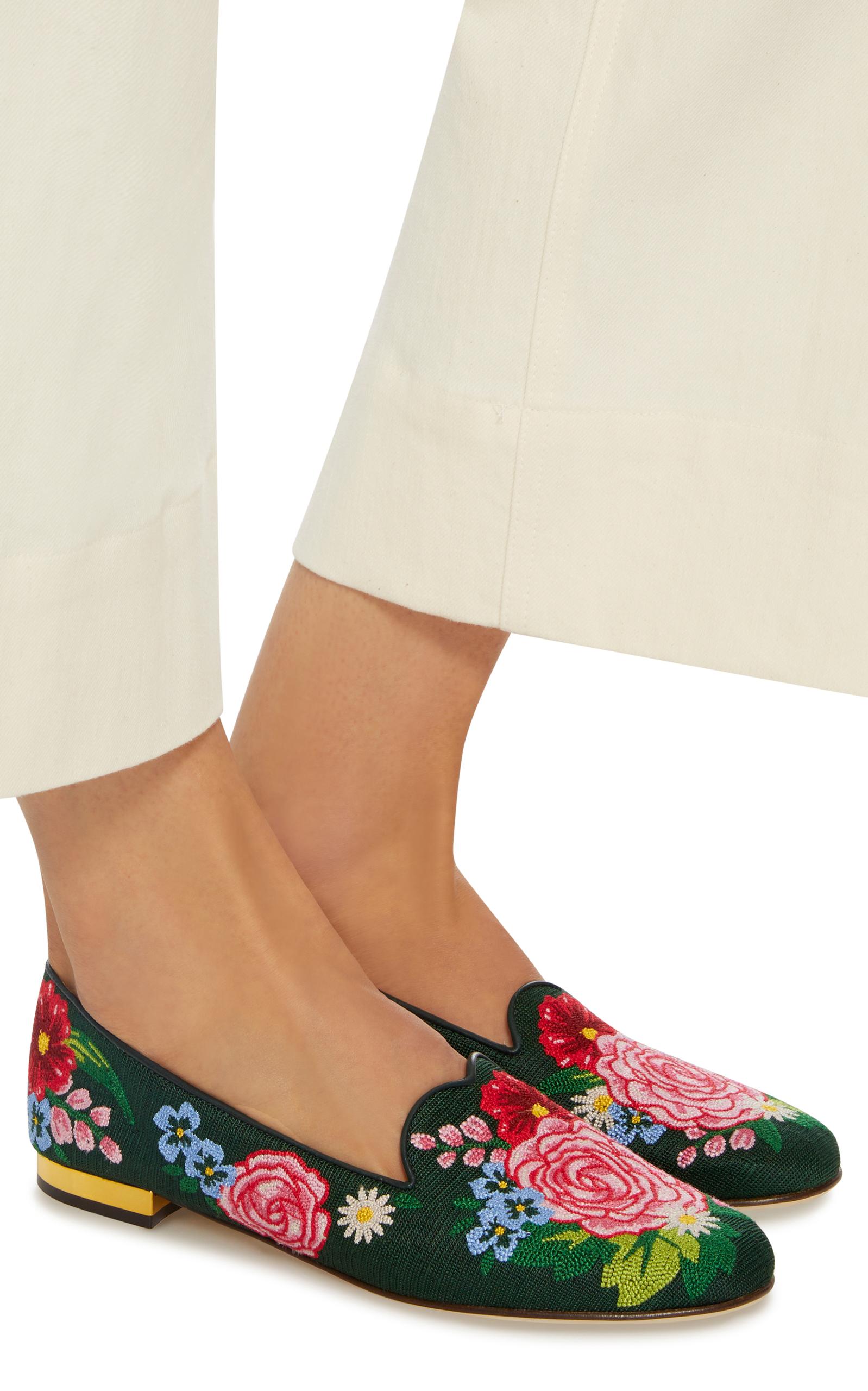 Charlotte Olympia Rose Mules Pantoufle De Jardin - Vert cV9zlss