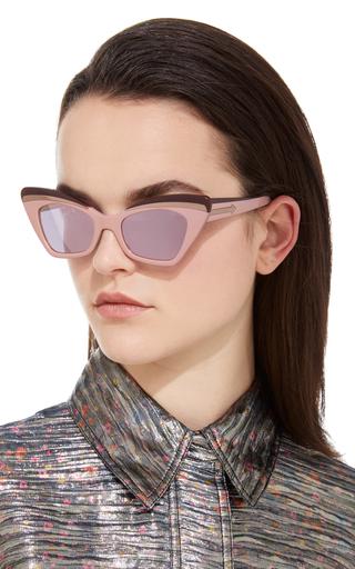 d93b8583696 Babou Blush Cat-Eye Acetate and Metal Sunglasses by Karen Walker ...