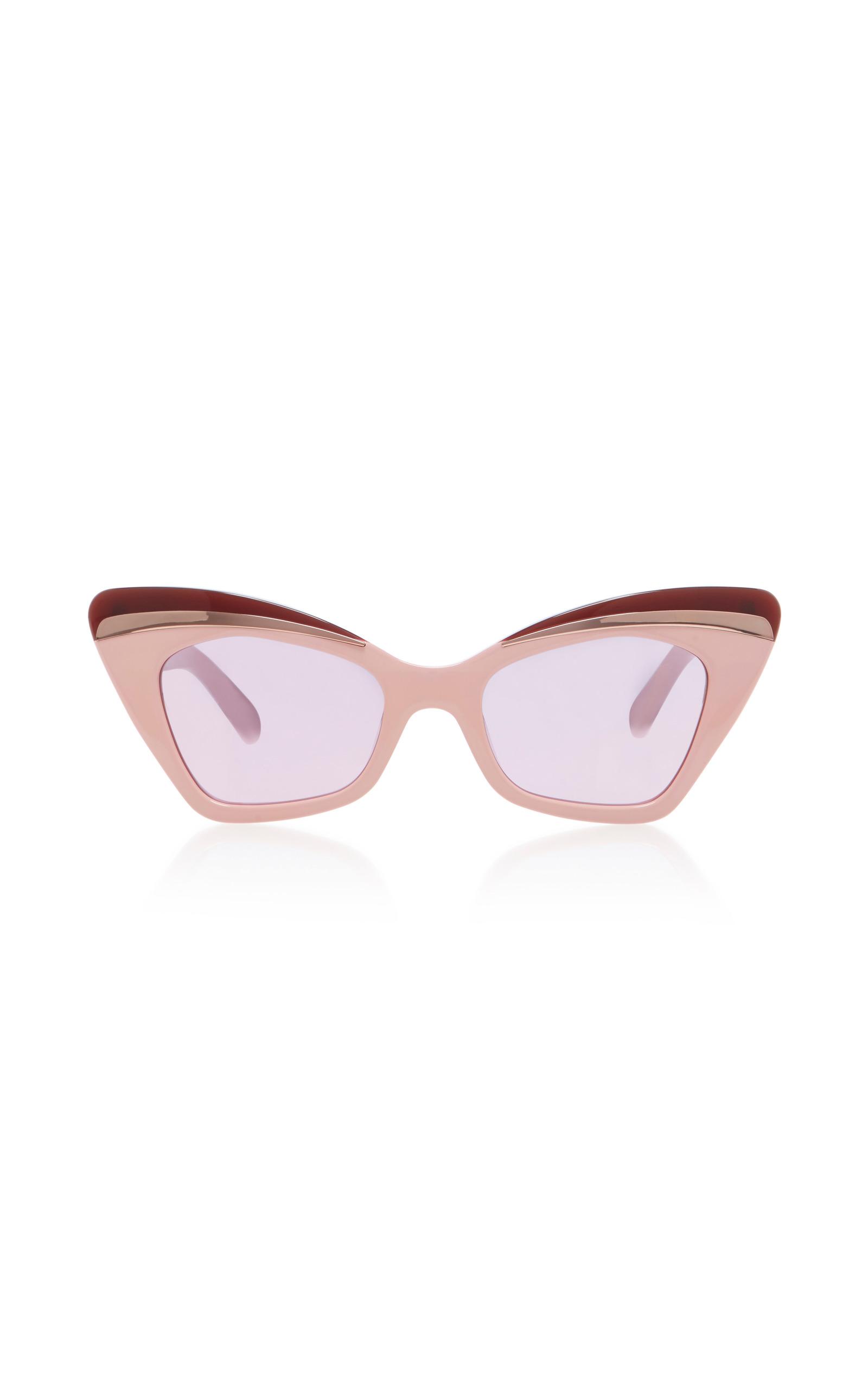 1b3fe225fdf4 Karen WalkerBabou Blush Cat-Eye Acetate and Metal Sunglasses. CLOSE. Loading