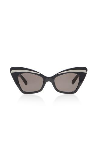 0db2af1a0d8d Karen WalkerBabou Black Cat-Eye Acetate and Metal Sunglasses
